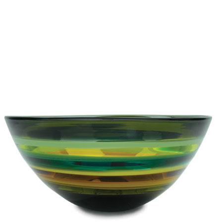 Hand blown glass decor. Moss Low Bowl by siemon and salazar