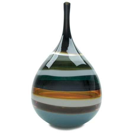 Hand blown glass decor. Stone Teardrop Vase by siemon and salazar