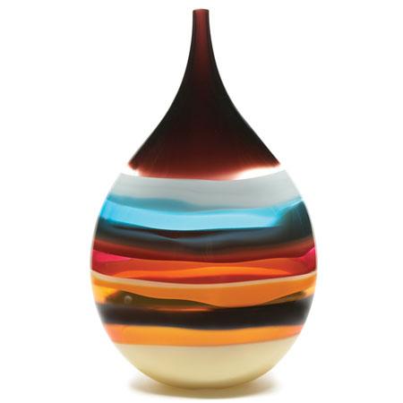 Cranberry Teardrop Vase