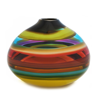 fiesta low oval vase
