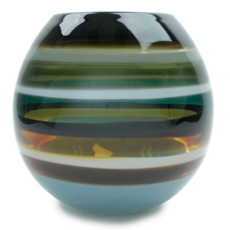 Hand blown glass decor. Stone Barrel Vase by siemon and salazar