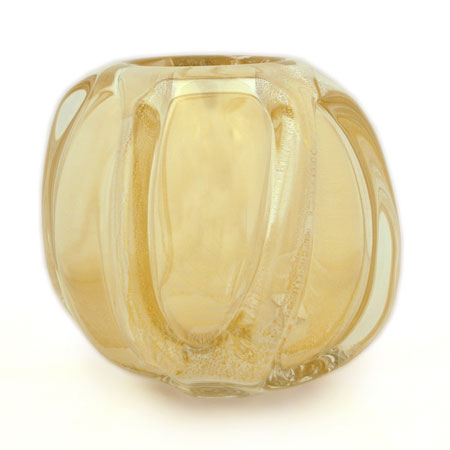 Gold Vertical Wrap Barrel Vase