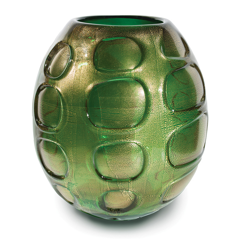 emerald gold chaos wrap barrel vase