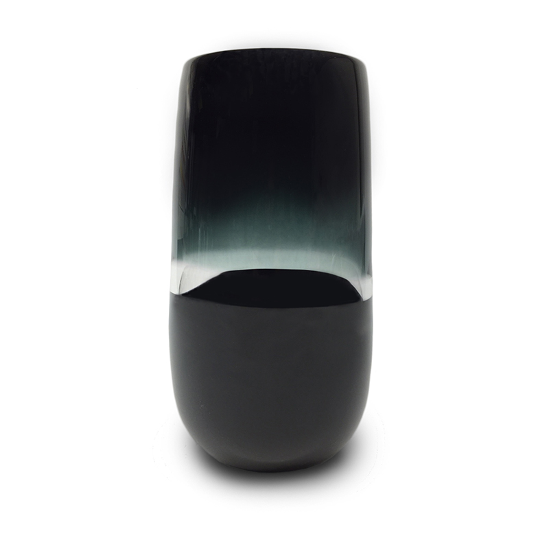 grey/black scuro flattened cylinder vase