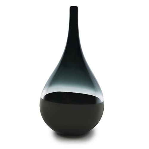 grey/black scuro teardrop vase