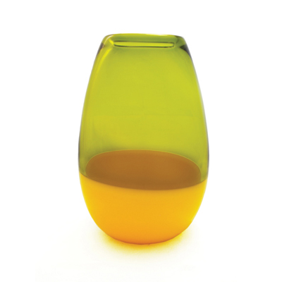 olive & corn yellow barrel vase