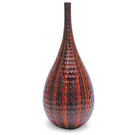 Mokume Battuto Crimson Teardrop