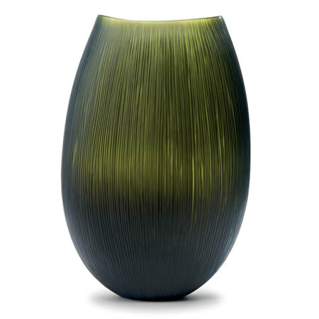 Inciso Bronze/Lime Green Uvase