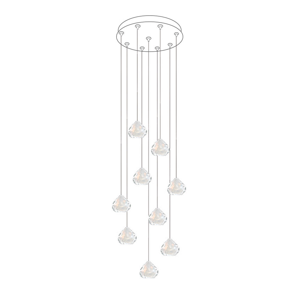 "Hand Blown Glass Lighting. 16"" round multiport canopy by siemon and salazar"