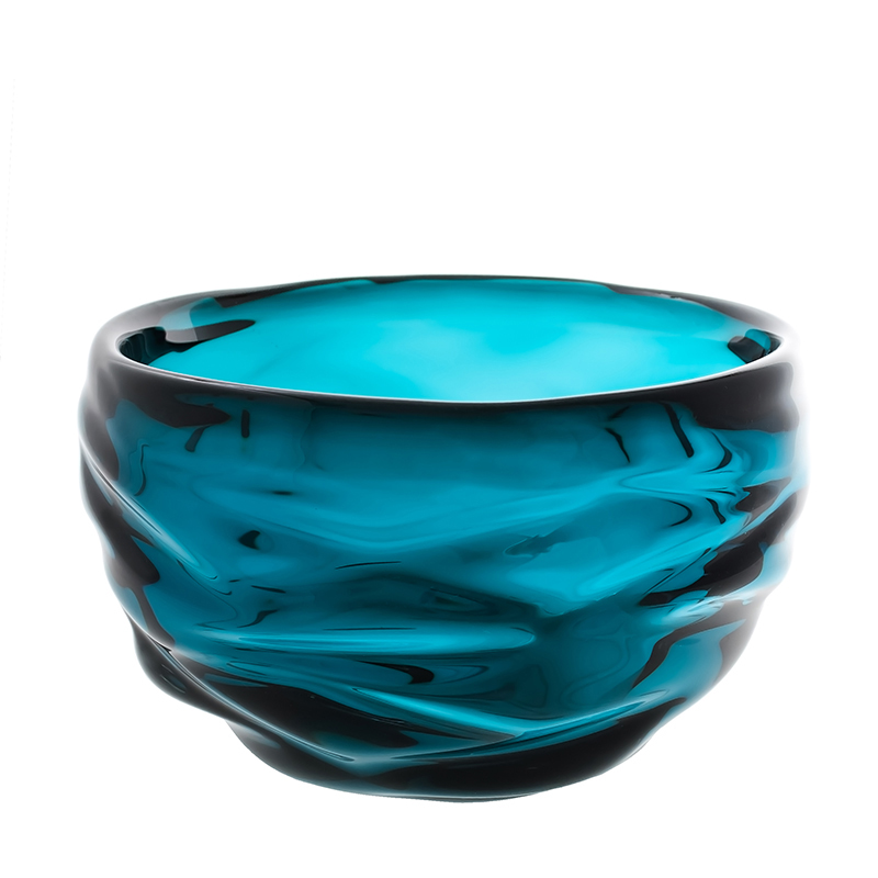 Hand blown glass decor. lagoon happy bowl by siemon and salazar