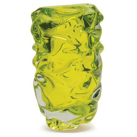 Lime Green Happy Cylinder Vase