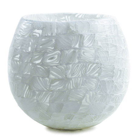Velato Strata Murrine White Low Uvase