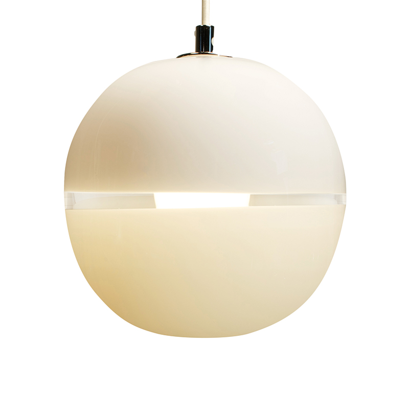 white/ivory lattimo orb pendant