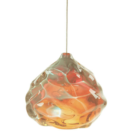 Hand Blown Glass Lighting. Gold Topaz Happy Light by siemon and salazar