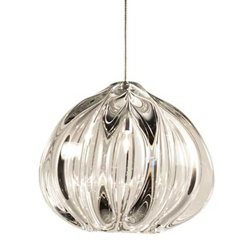 Hand Blown Glass Lighting. clear urchin light by siemon and salazar