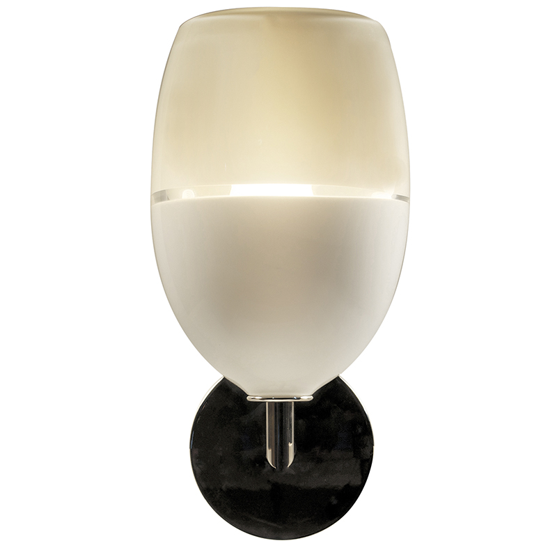 white/ivory lattimo egg sconce