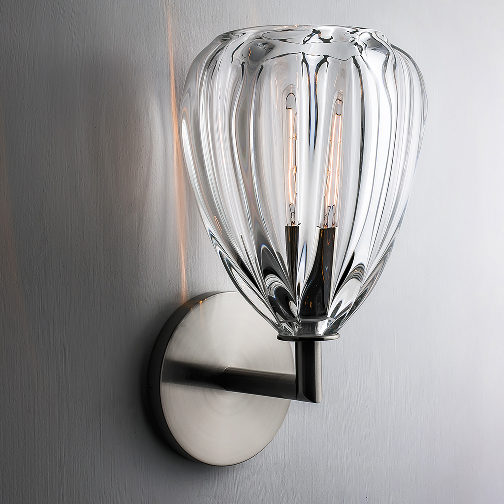 clear barnacle elbow sconce