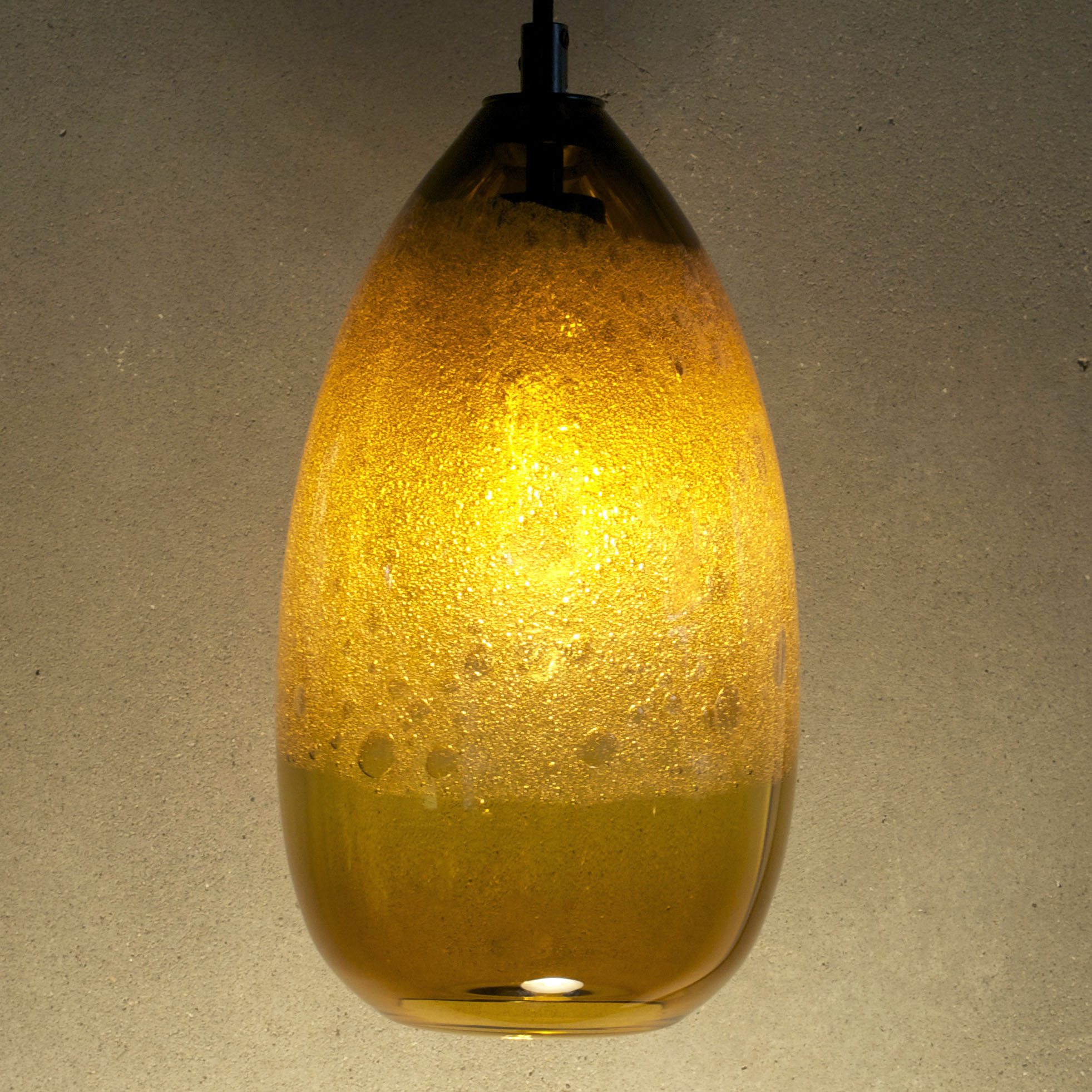 amber cone pendant light by siemon and salazar