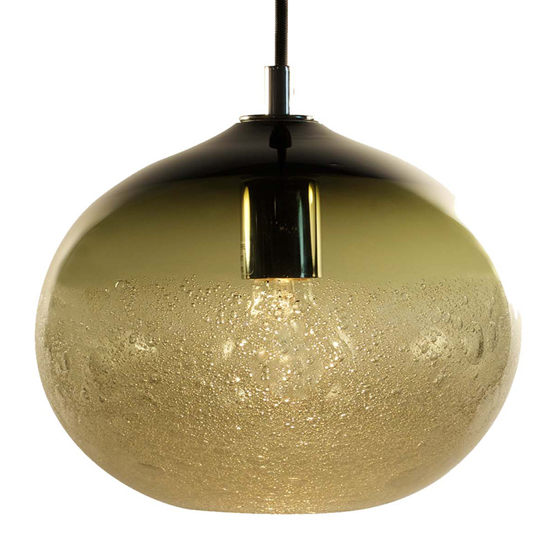 bronze ellipse bubble pendant