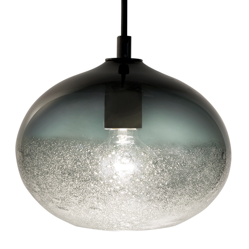 grey ellipse bubble pendant