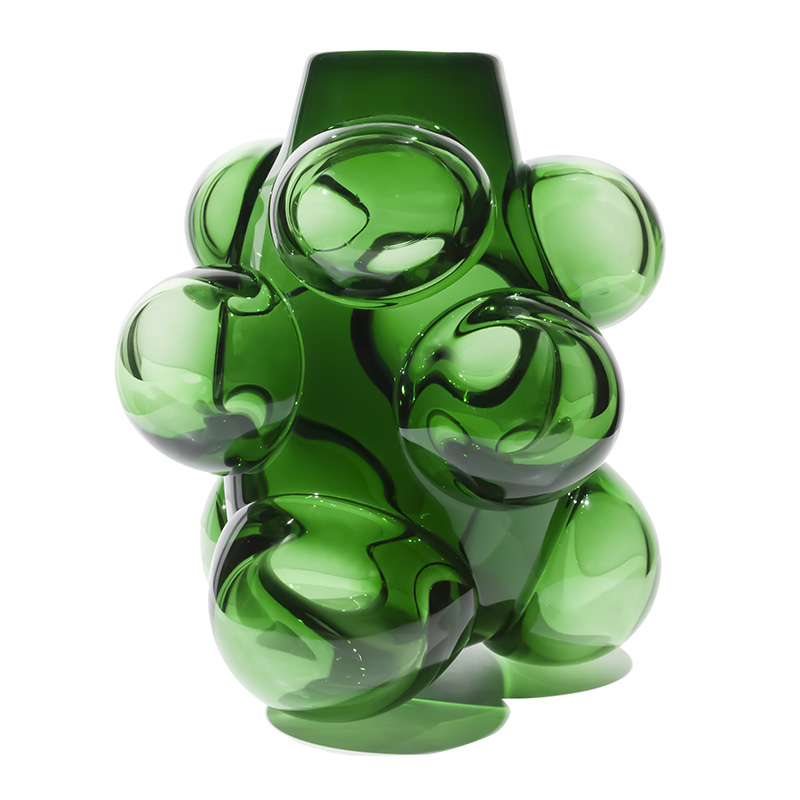 emerald cumulo barrel vase