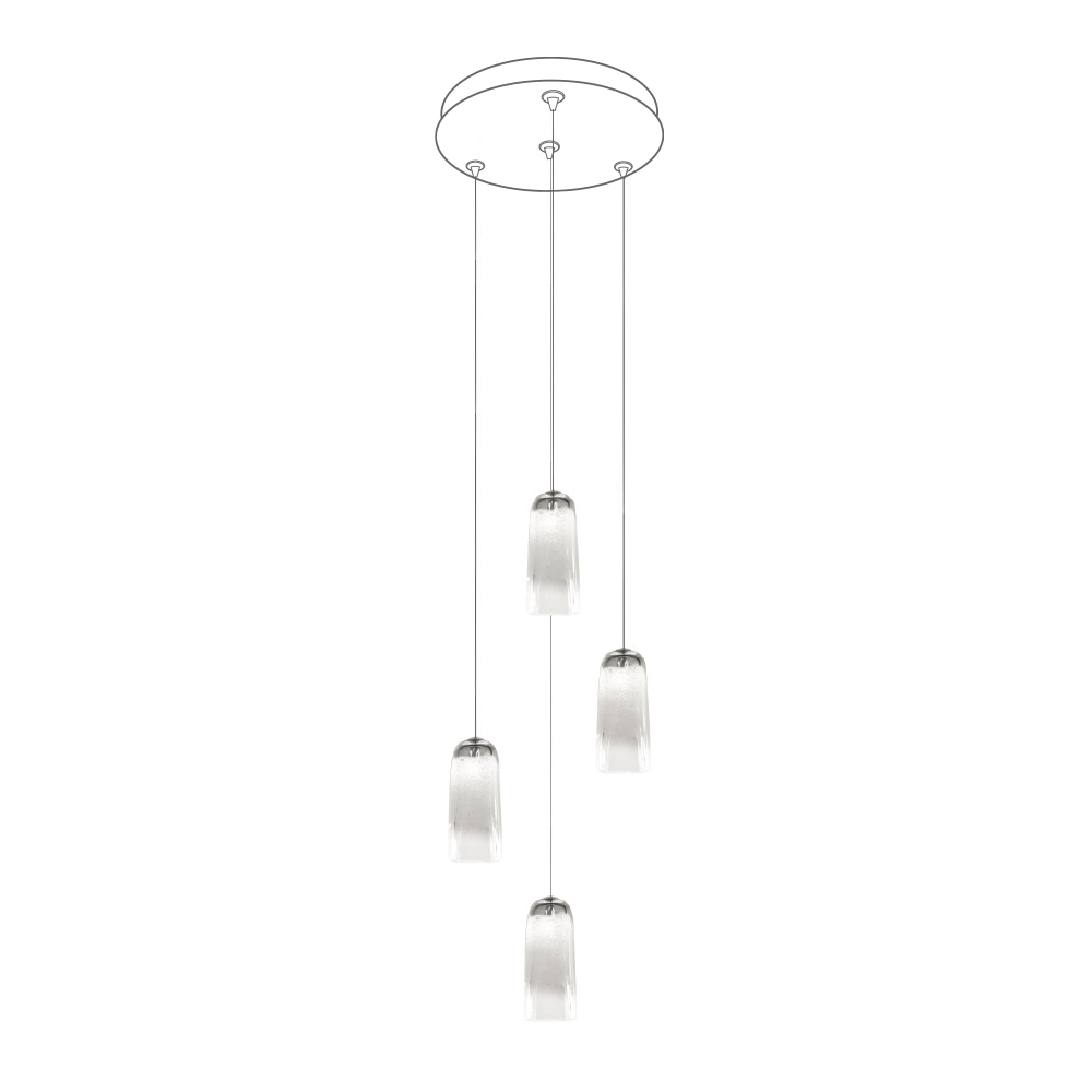 "Hand Blown Glass Lighting. 12"" round multiport canopy by siemon and salazar"
