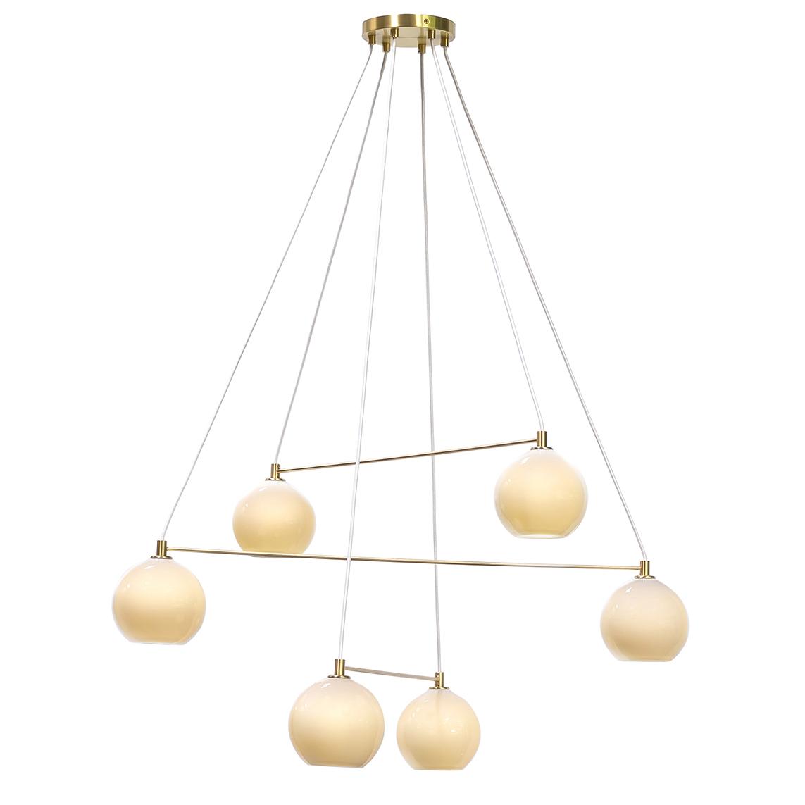 modern hand blow chandelier by siemon and salazar