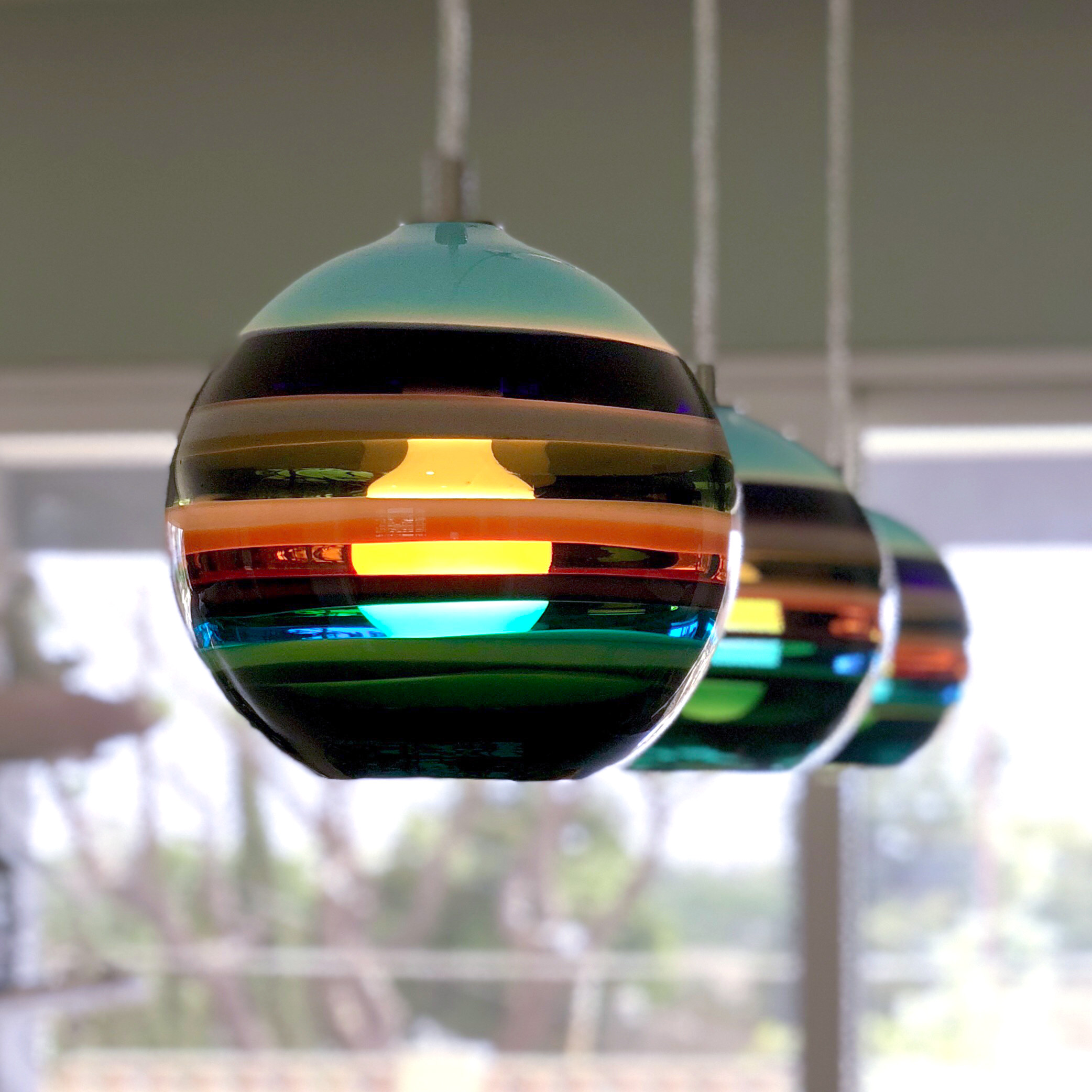 custom colorful pendants by siemon and salazar