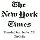 NY Times, Dec Gift Guide 2011