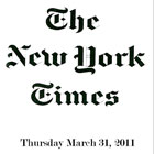 NY Times, March 31 2011