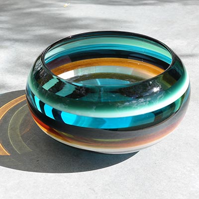 Aqua Closed Bowl