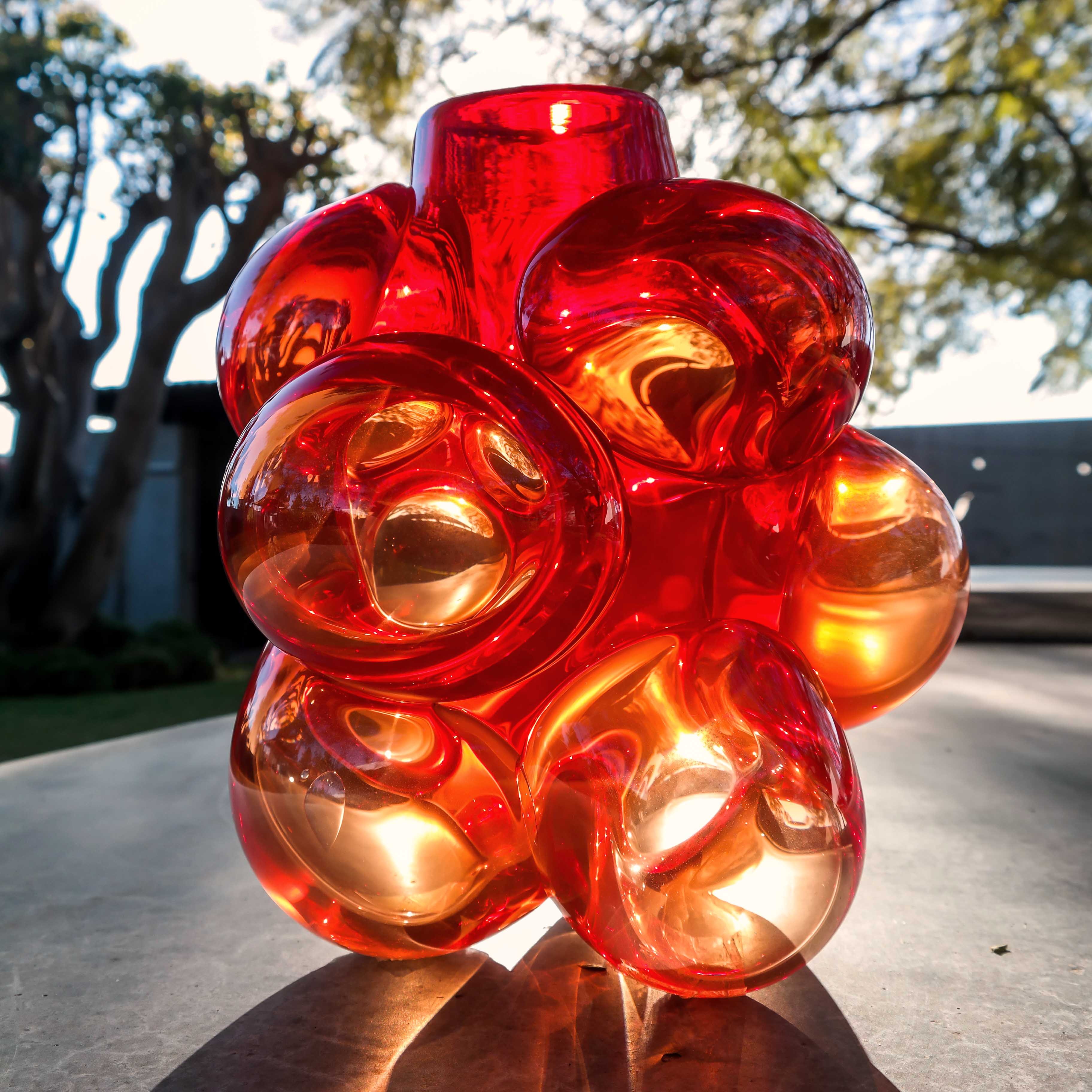 chihuly style glass by siemon and salazar