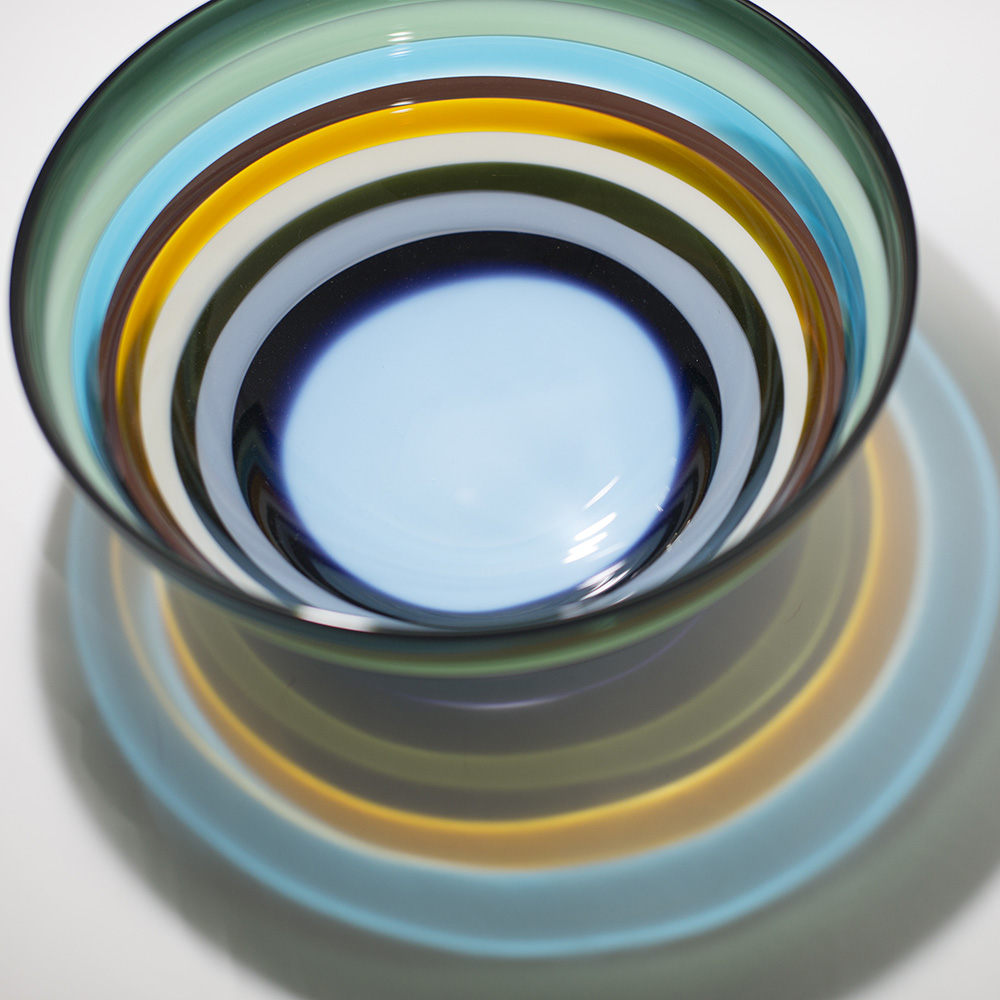 colorful glass bowl by siemon and salazar
