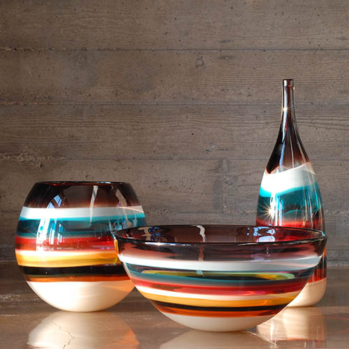 unique blown glass vases by siemon and salazar