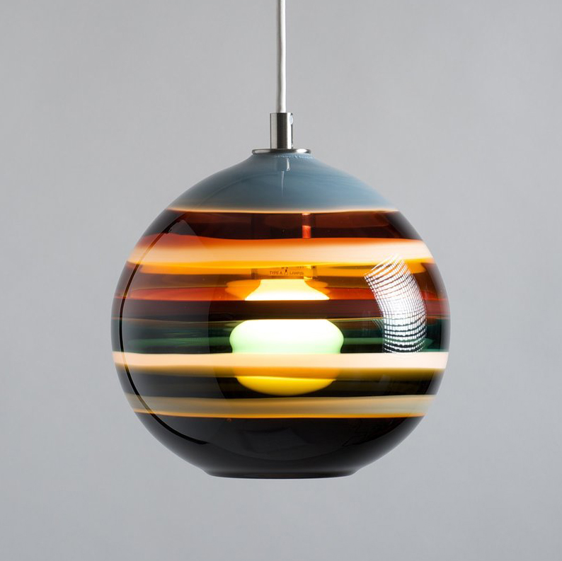 earth tone pendant lighting by siemon and salazar