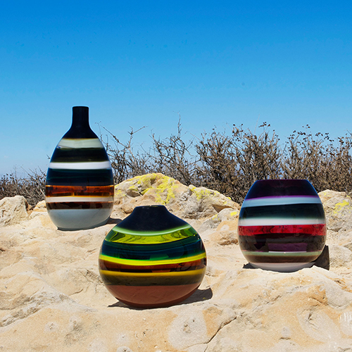 artisan blown glass vessels by siemon and salazar