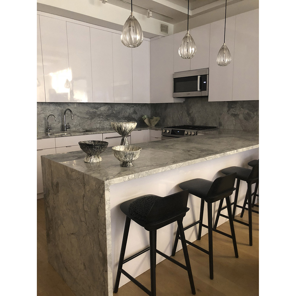 kitchen island glass lighting by siemon and salazar