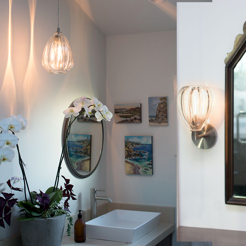 vanity mirror glass lighting by siemon and salazar