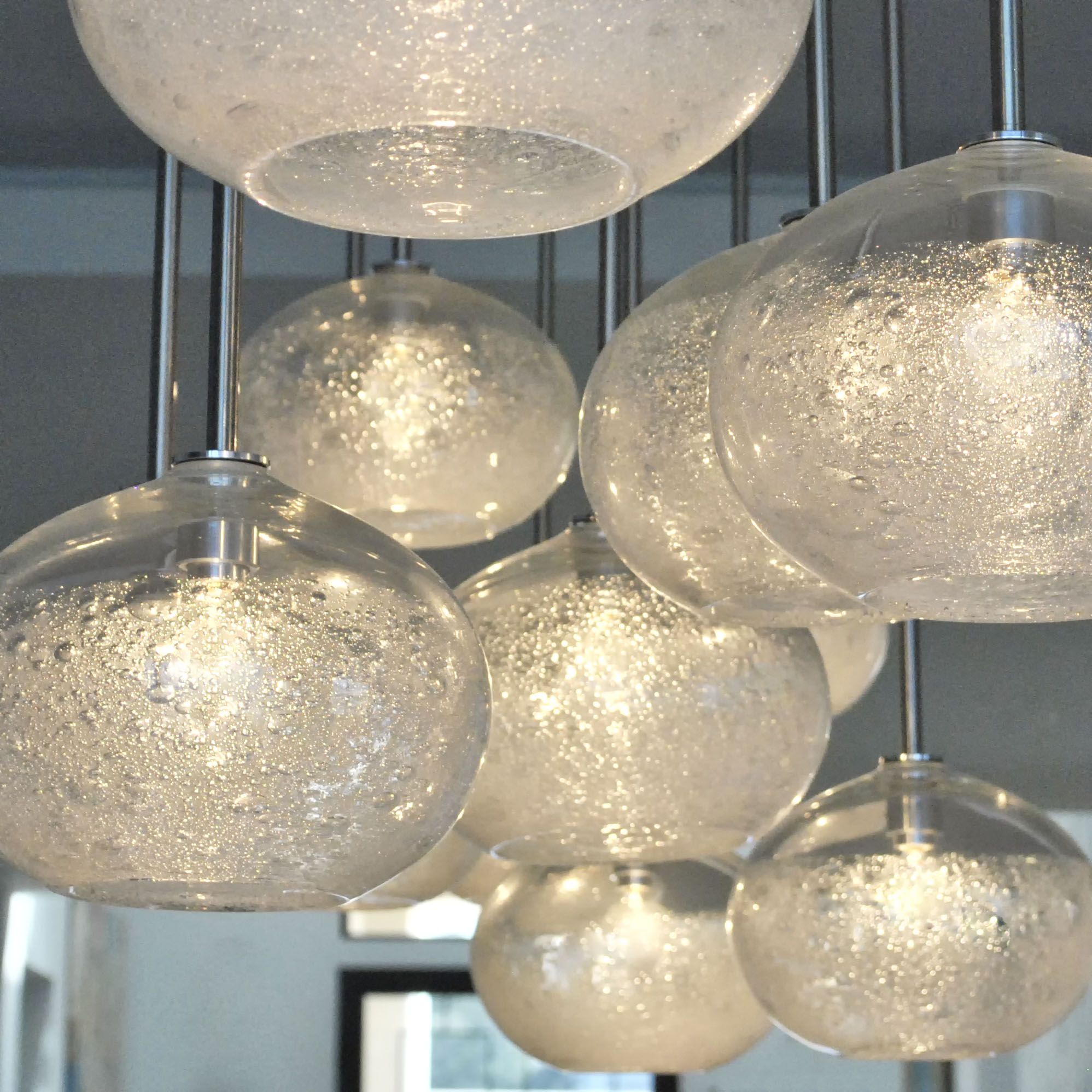 hand blown lighting chandelier by siemon and salazar
