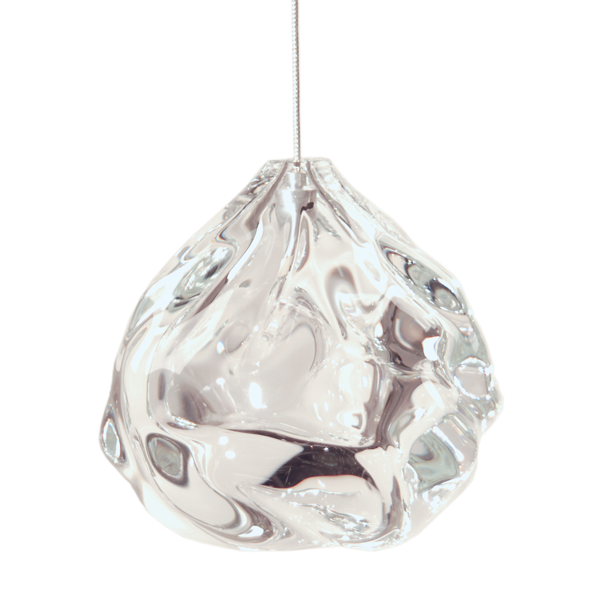 Hand Blown Glass Lighting. clear happy light by siemon and salazar