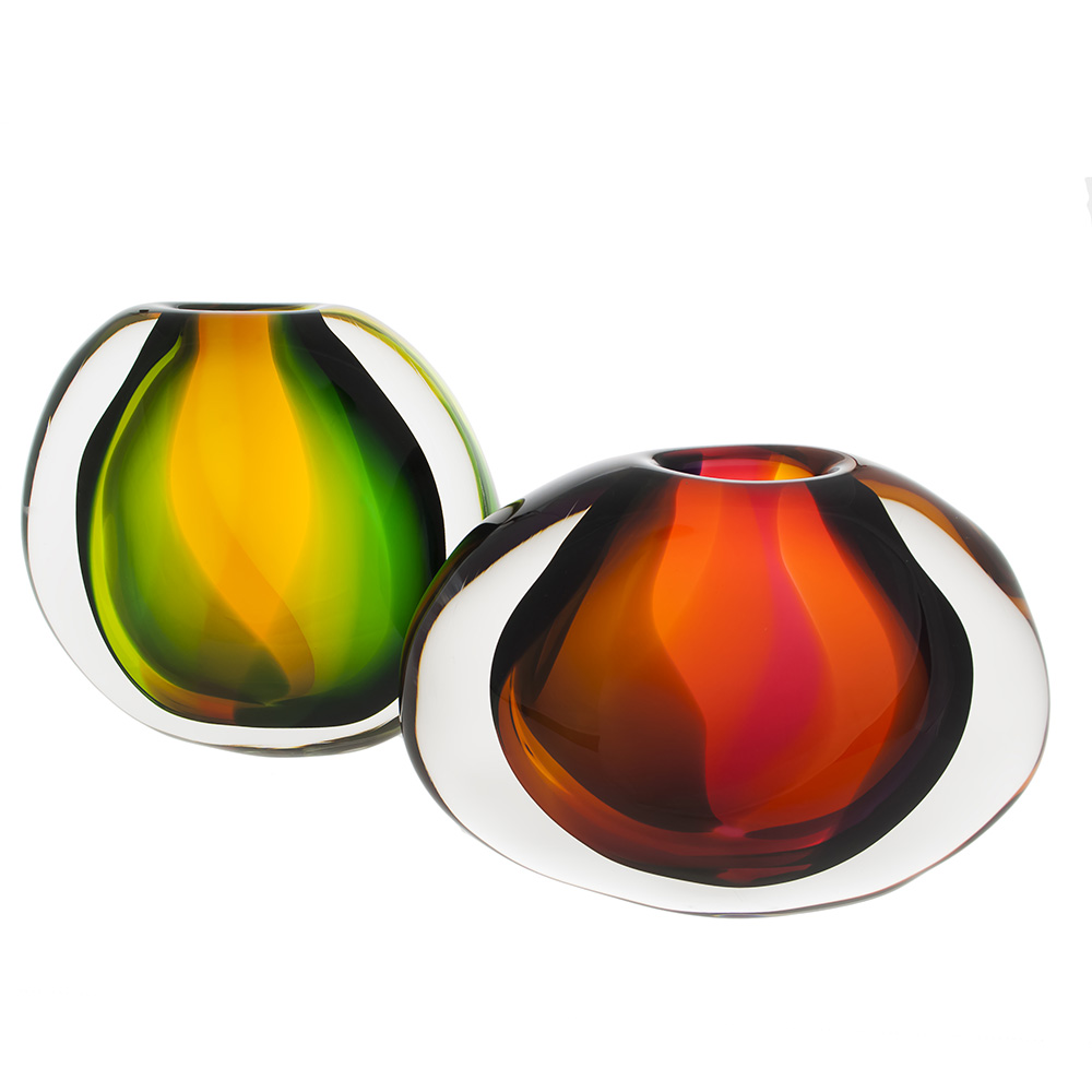 colorful glass home decor by siemon and salazar