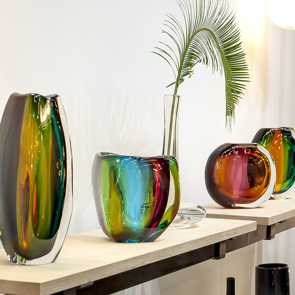 beautiful glass vase collection by siemon and salazar