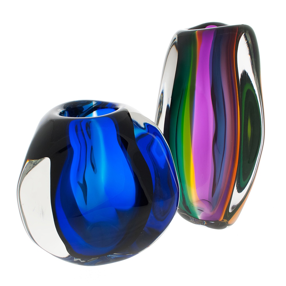 murano glass vase collection by siemon and salazar