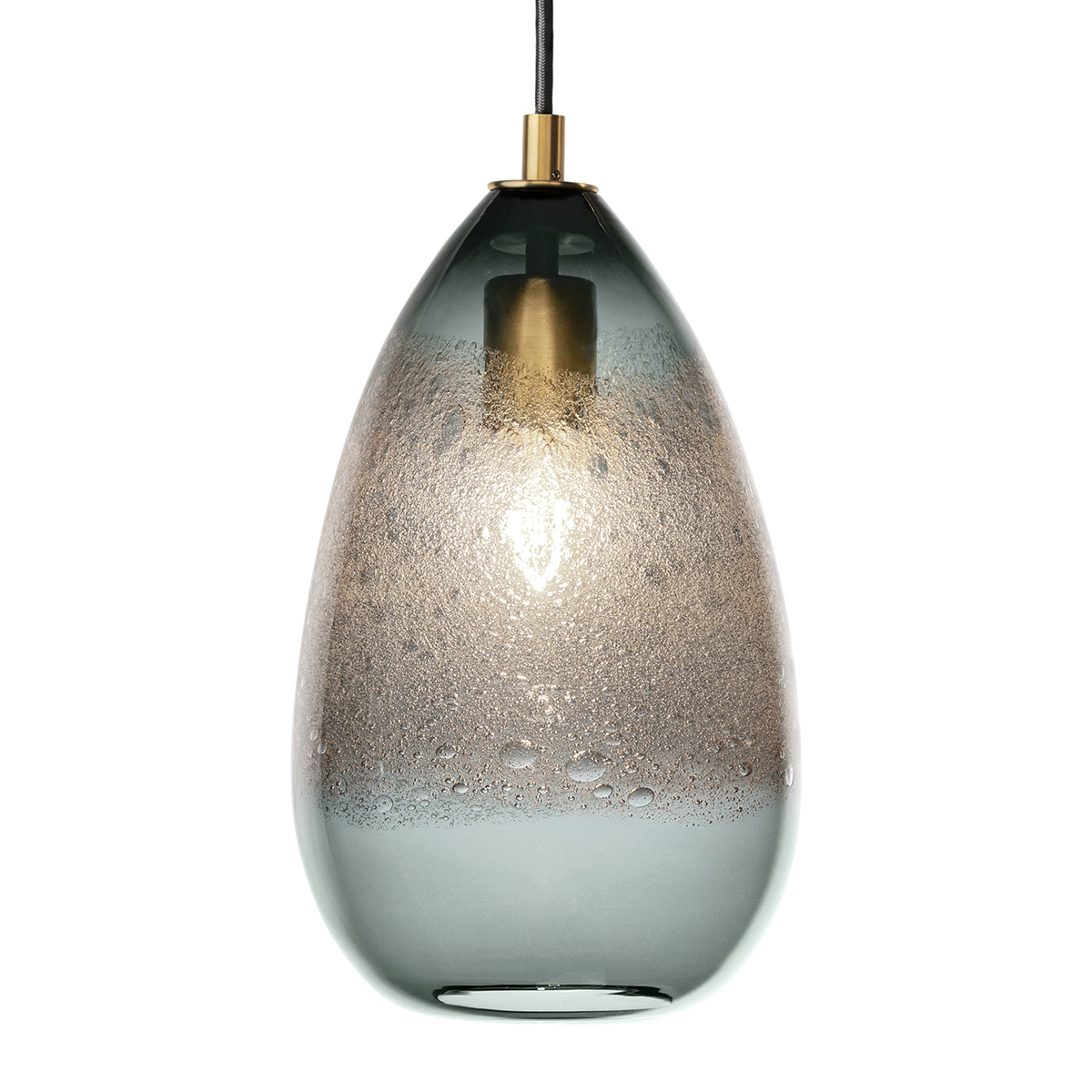 grey cone bubble pendant