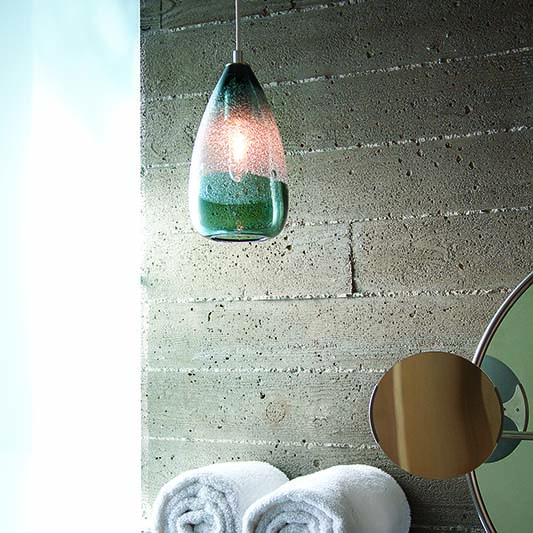 glass bathroom pendant lighting blown glass by siemon and salazar