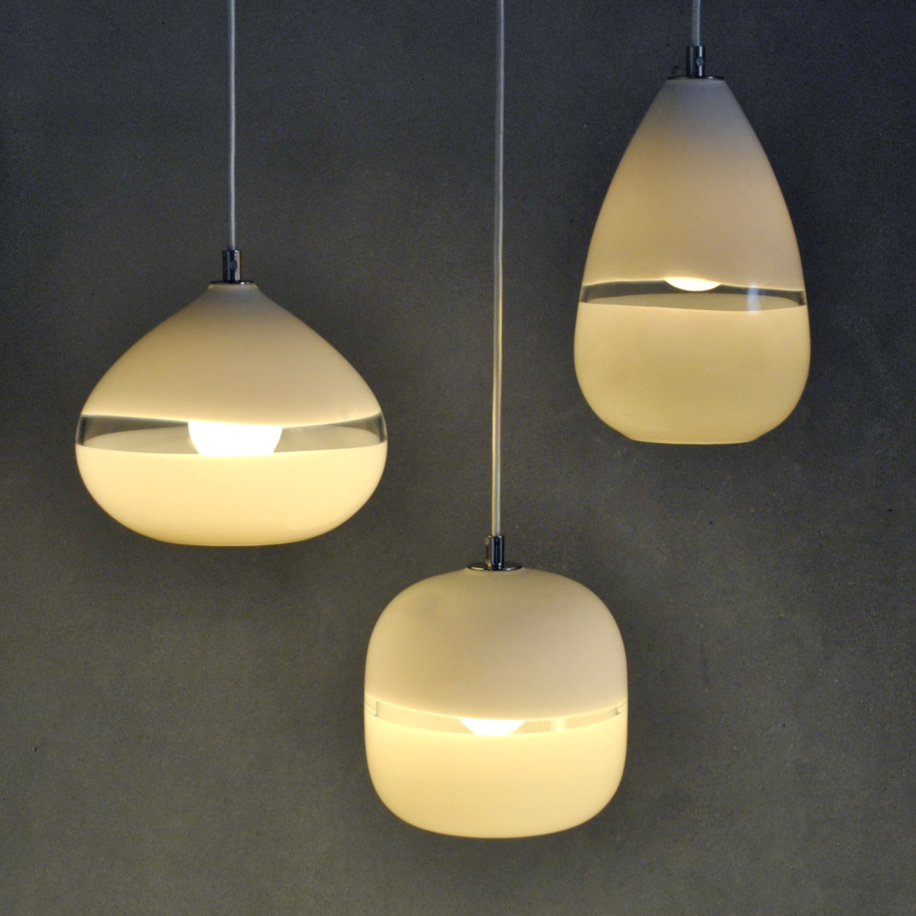 glass lighting trio by siemon and salazar