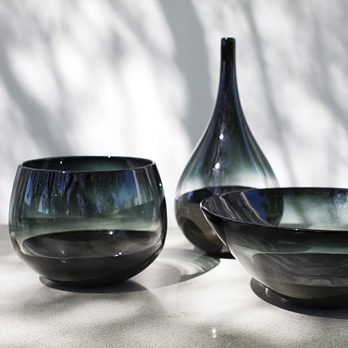 modern black vase by siemon and salazar
