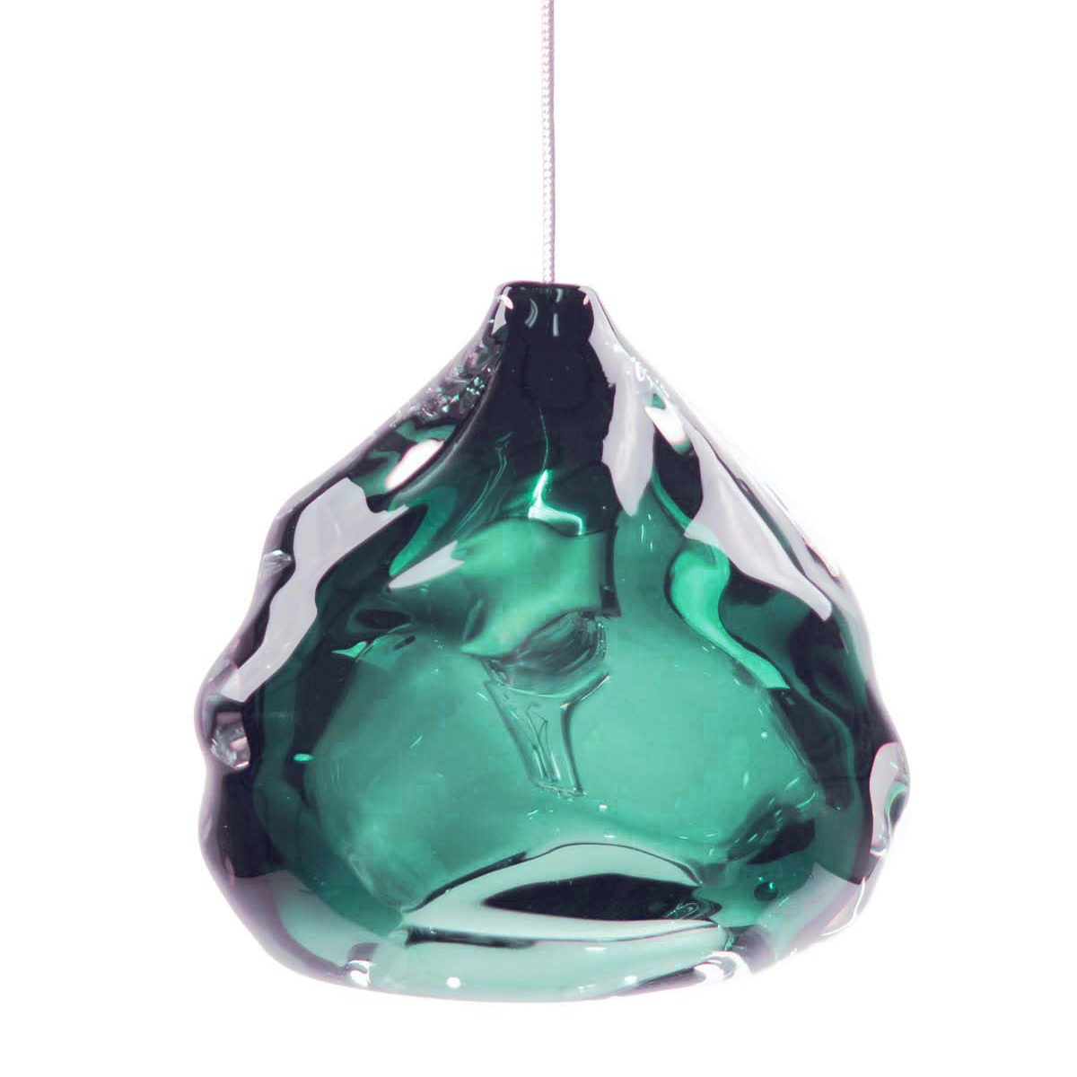 Hand Blown Glass Lighting. steel grey happy light by siemon and salazar