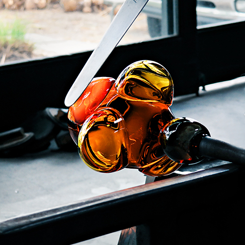 custom glassblowing by siemon and salazar
