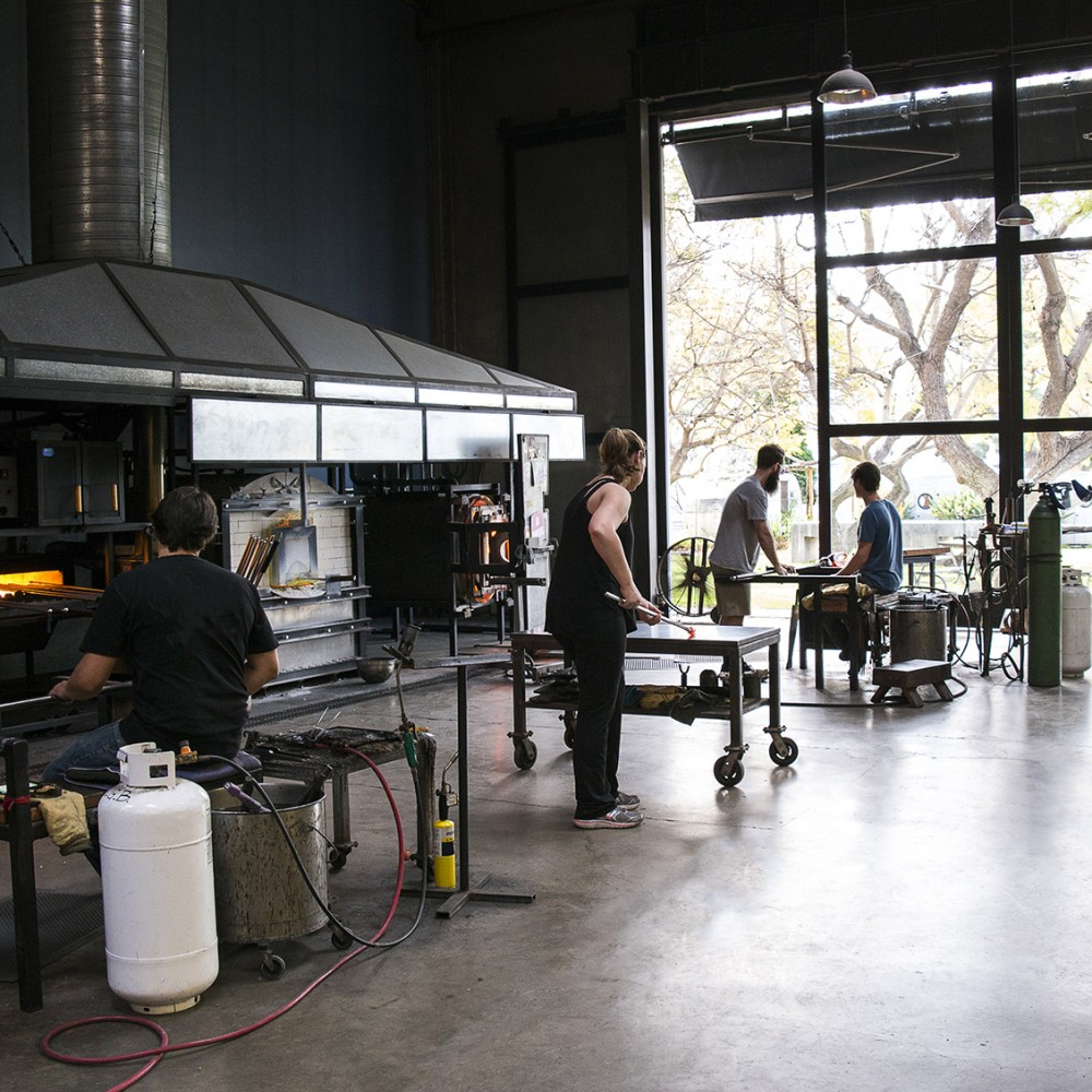 california glassblowing studio by siemon and salazar